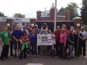 Snake River Valley Chapter Members of the NFB with Chukar's Mascot