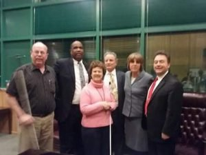 Photo of Kevin Pirnie, Anil Lewis, Pat Mauer, Mark Mauer, Pam Allan, and Mark Riccobono